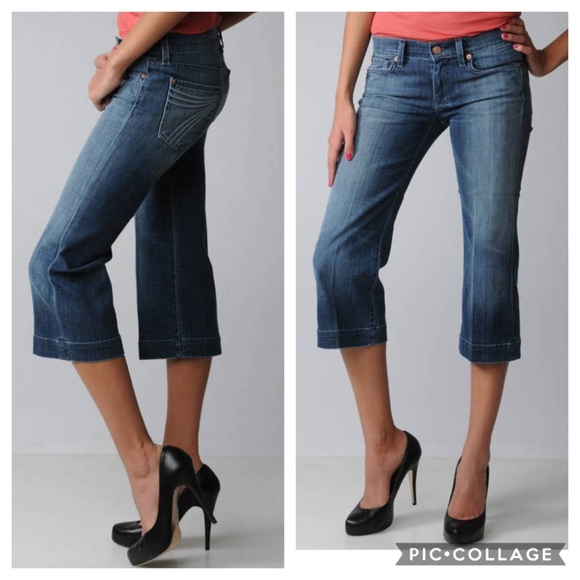7 For All Mankind Denim - 7 For All Mankind Jeans Cropped Dojo